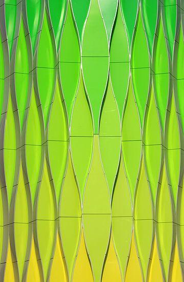 Abstract kleurverloop van Sander van der Werf