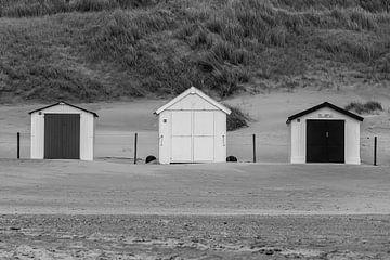 Strandhuisjes in NP Duinen van Texel van Henri Kok