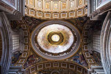 Het dak van de Sint-Pieter in Vaticaanstad van Sander de Jong