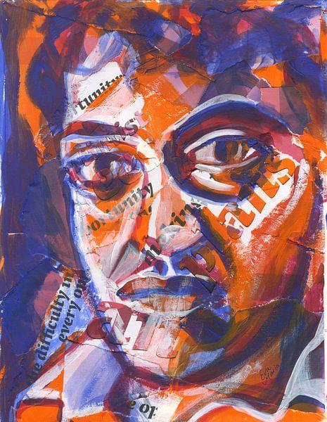 Kleurrijke man van ART Eva Maria