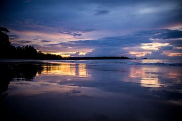 Thailand zonsondergang van Lindy Schenk-Smit