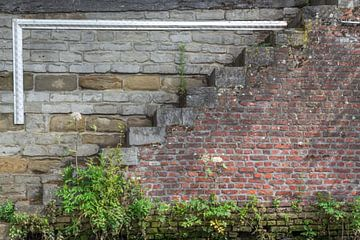 Trappetjes langs de Dijle te Mechelen van didier de borle