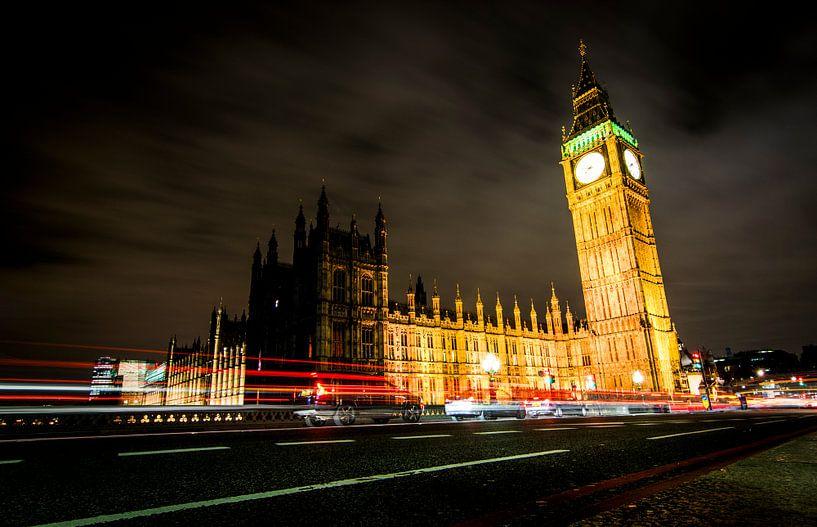 Big Ben in de avond van Kevin van Deursen