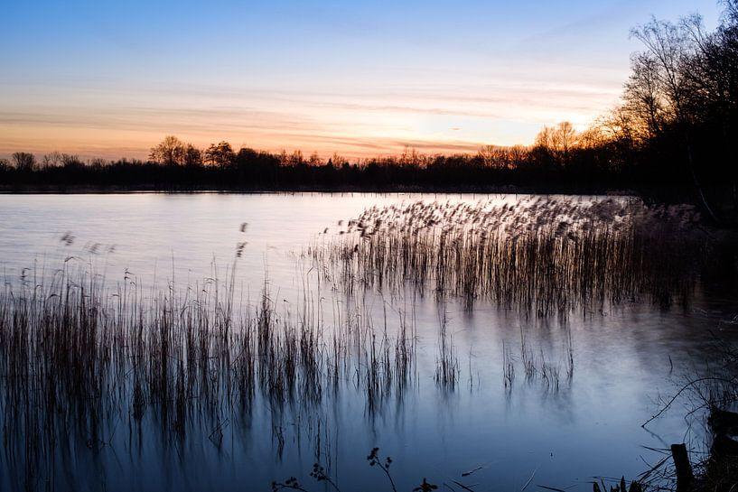 Zonsondergang aan De Wijers van Johan Vanbockryck