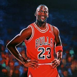 Michael Jordan schilderij