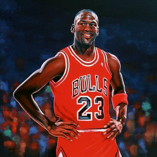 Michael Jordan schilderij van Paul Meijering