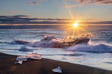 Diamantstrand in IJsland van Dieter Meyrl