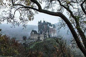 Burcht Eltz in de mist van