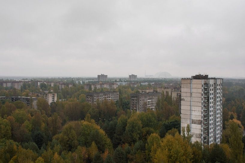 Pripyat skyline van Tim Vlielander