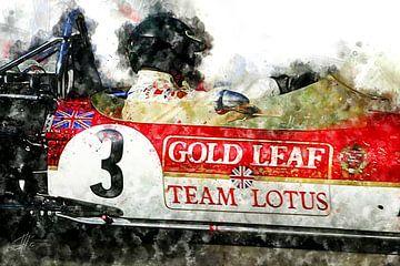Jochen Rindt, Lotus 1970 Close von Theodor Decker