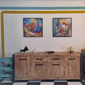 Kundenfoto: Tintin und Bobbie  von Frans Mandigers, auf leinwand