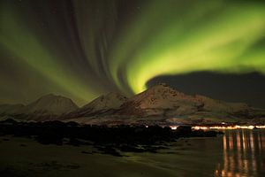 Noorderlicht in Noorwegen van