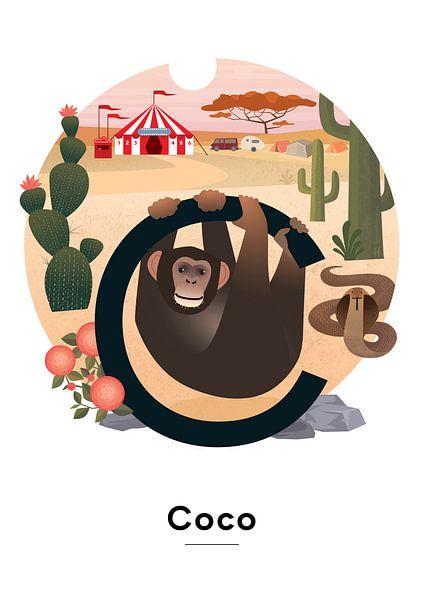 Coco-Namensplakat von Hannahland .