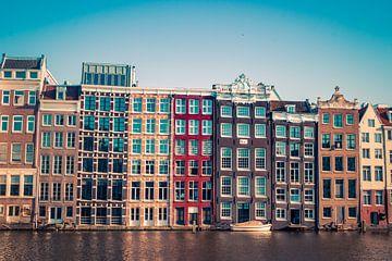 Grachtenpanden in Amsterdam - warm van Suzan van Pelt