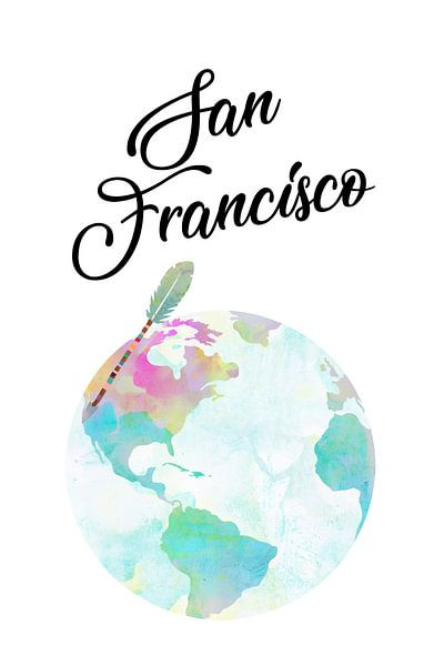 San Francisco auf dem Globus van Green Nest