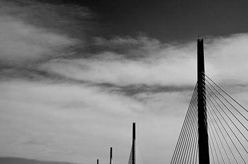 Viaduct van Millau, Frankrijk von Willem van den Berge