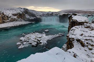 Godafoss waterval IJsland von Ben van Boom