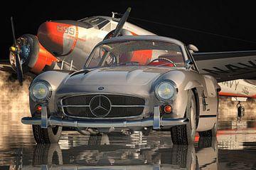 Das Design des Mercedes 300SL Flügeltürers ist Kunst von Jan Keteleer