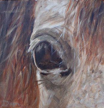 Bemalung eines Pferdekopfes von Mieke Daenen