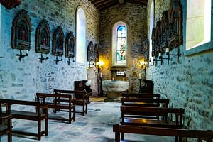 kerkje bij Chateau Estoublon van
