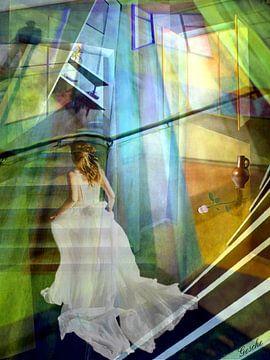 Die Dame im weißen Gewand von Gertrud Scheffler