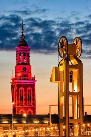 Nieuwe Toren en Stadsbrug in Kampen