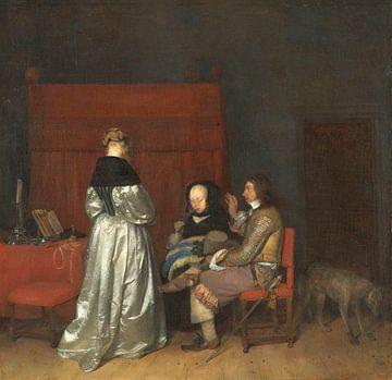 Galante conversatie, bekend als 'De vaderlijke vermaning', Gerard ter Borch