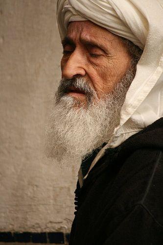 Oude man in Marokko