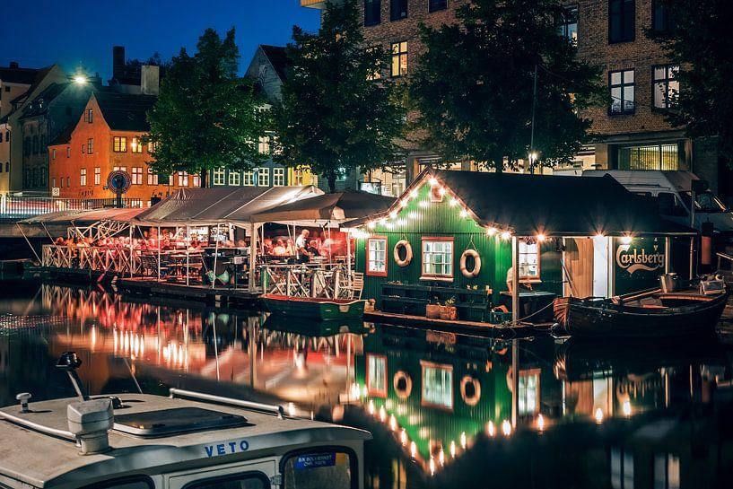 Copenhagen - Christianshavn at Night van Alexander Voss