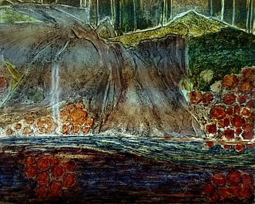 Glasmalerei Sleepy Lady  von ruud harberts