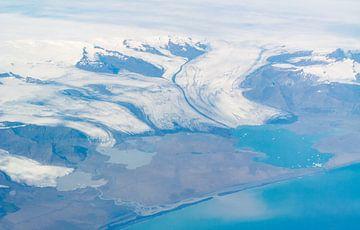 Islande, vue aérienne de la bande côtière sur Jeannette Kliebisch