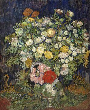 Bouquet de fleurs dans un vase, Vincent van Gogh sur