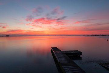 Sonnenaufgang Reeuwijkse Teiche lange Verschlusszeit von Leo Kramp Fotografie