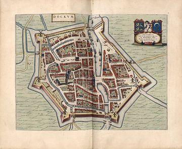 Dokkum, Stadsplattegrond Joan Blaeu 1652 van Atelier Liesjes