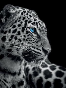 Panther mit blauen Augen von Hendrik Jonkman