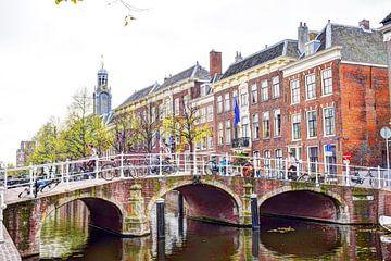 Hoek Rapenburg Doelenbrug Leiden 2 van Hendrik-Jan Kornelis