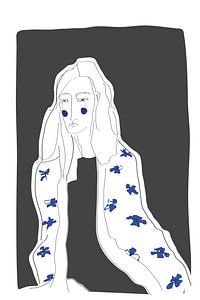 blue daisy van kath.illustrated