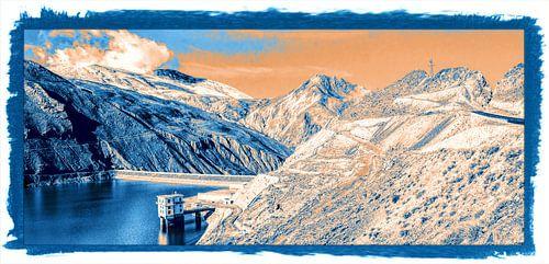 Stuwmeer in de Himalaya, Tibet