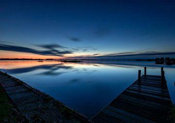 Sonnenaufgang am Leekstermeer von Jacques Jullens