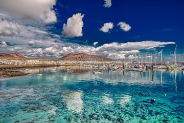 De haven van Caleta de Sebo van