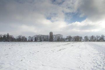 Aaltener Wasserturm im Schnee von Hans Monasso