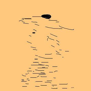 Dame mit Hut von Peter Norden