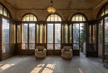 Villa met zicht op de bergen. van
