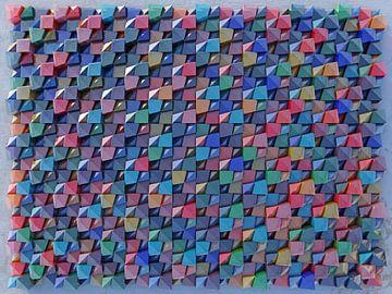 Relief 2016 K2 Gekleurd Glas van Frans Blok