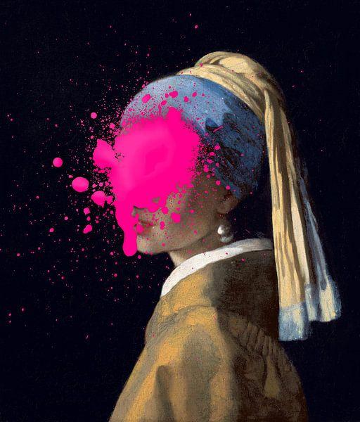 Meisje met de Parel met verfvlek van Maarten Knops