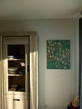 Klantfoto: Amandelbloesem van Vincent van Gogh (deep green), op canvas