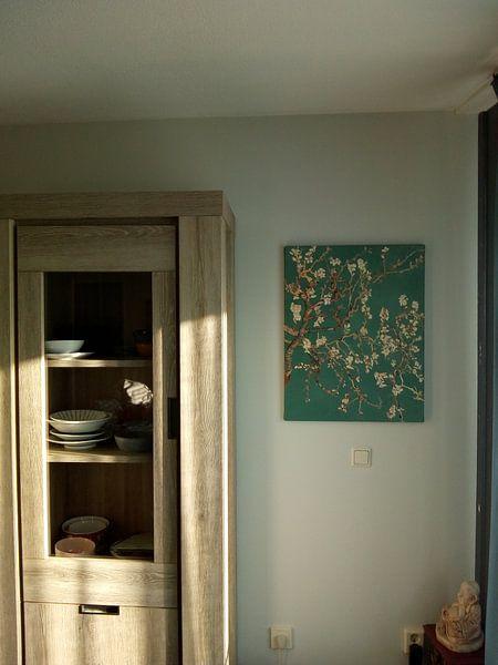 Klantfoto: Amandelbloesem van Vincent van Gogh (deep green)