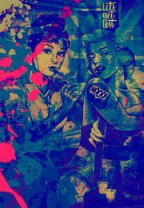 Audrey Hepburn vs Marilyn Monroe Pop Art PUR