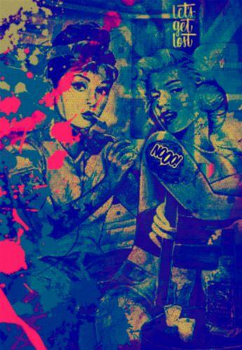 Audrey Hepburn vs Marilyn Monroe Pop Art PUR van Felix von Altersheim