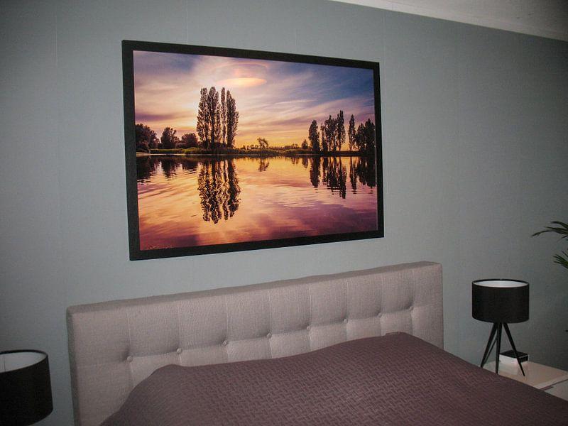 Kundenfoto: Zonsondergang bij Poelmeer von Marja Spiering, auf gerahmtes poster